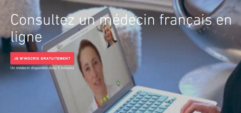 médecin français en vidéoconsultation